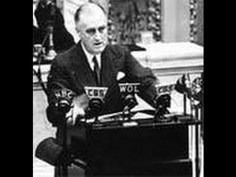 America Declares War on Japan - President Roosevelt Speech [Full Resolut...