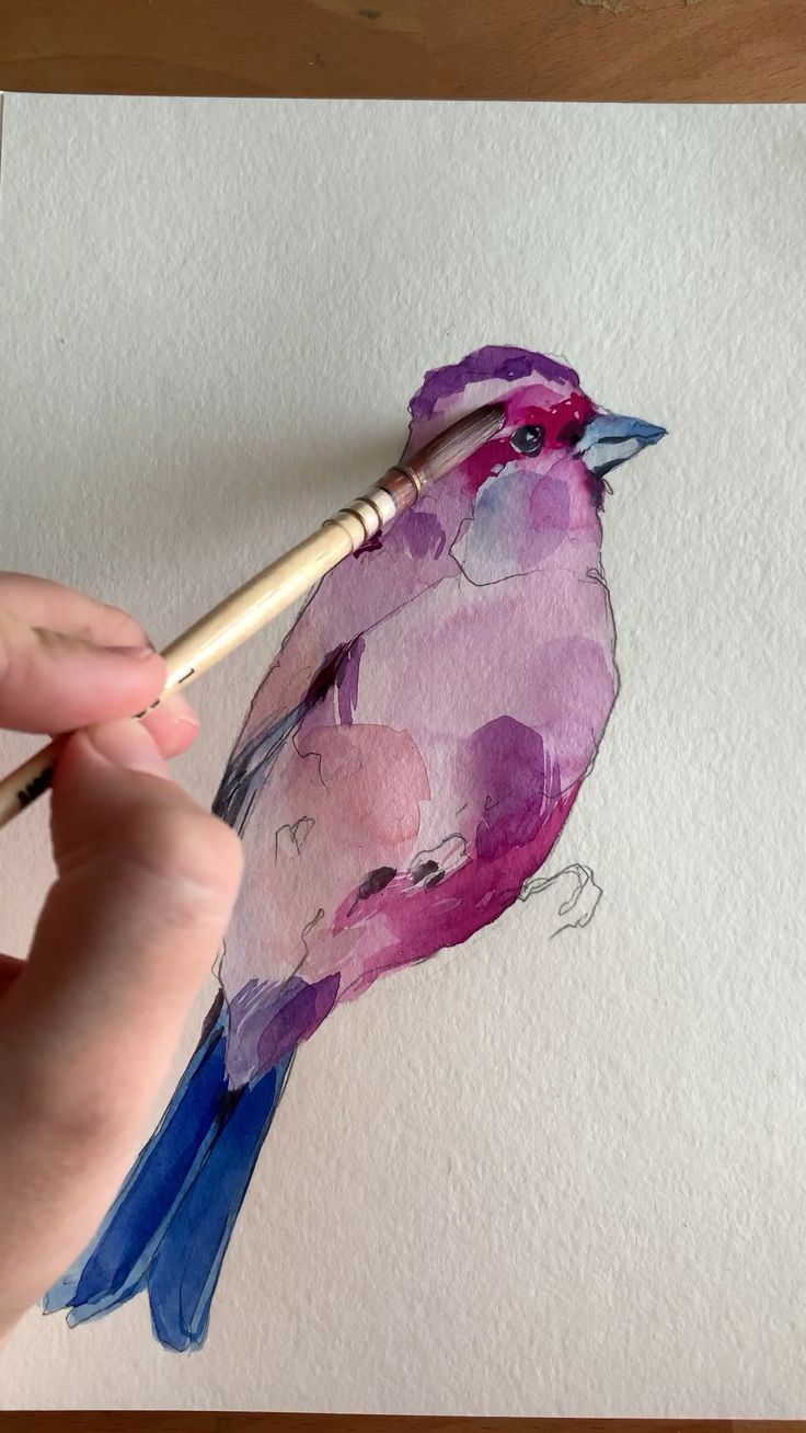 Purple Finch von Polina Bright – #Bright #finch #Polina #Purple #Unique