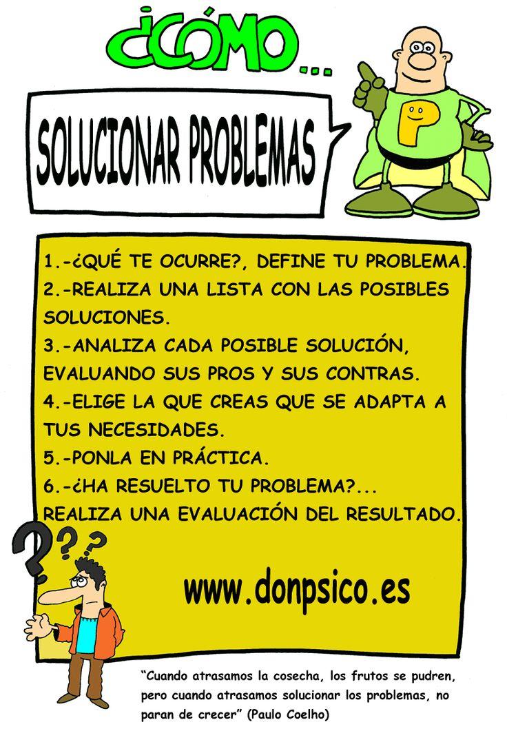 ¿Cómo puedes solucionar los problemas?