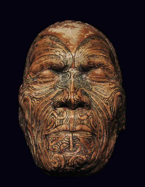 Moulage du visage de Wiremu Te Manewha (musée du Quai Branly) by dalbera, via Flickr