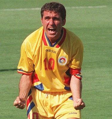 Georgie Hagi - arguably Romania's greatest footballing icon and the world's quietest shouter.