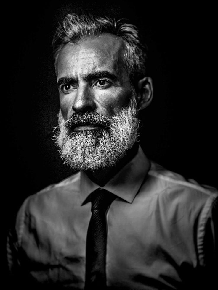 Photo by Joao Carlos (#Joao Carlos Photography)  Male model, Lisbon, white beard, Man Fashion, Silver Fox