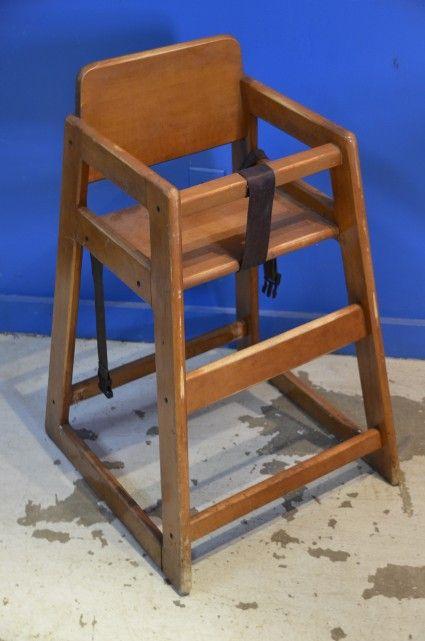 Chaises hautes en bois