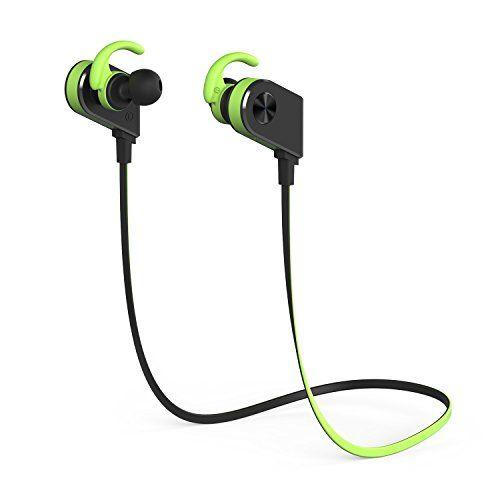 cool Auriculares Inalámbricos,YXwin Auriculares Deportivos Bluetooth 4.1 in ear Con Micrófono para Iphone iPad Sony Huawei PS4 Samsung y otros móviles Android -Verde Negro
