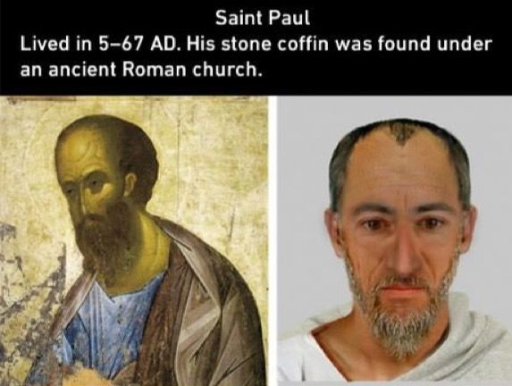 This is a facial reconstruction of the apostle Paul.