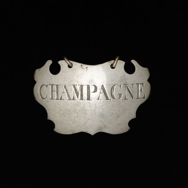Champagne bottle ticket, about 1750 | Victoria and Albert Museum #Christmas