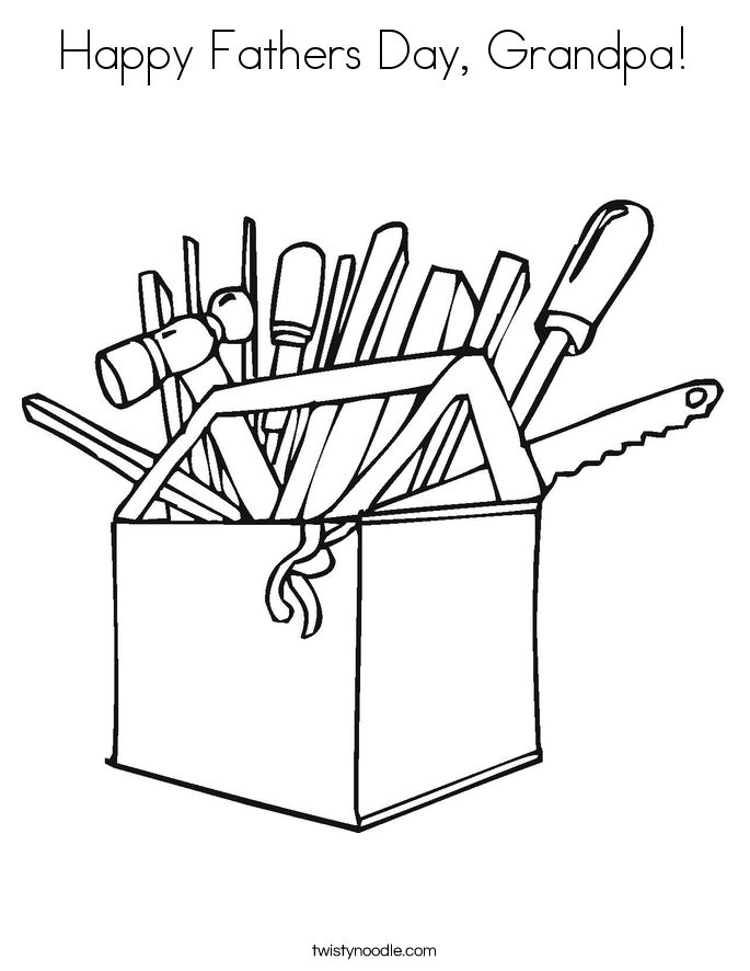 Happy Fathers Day Grandpa Coloring Page