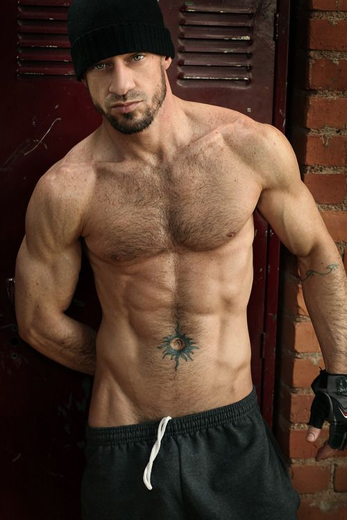 Muscle hairy gay men