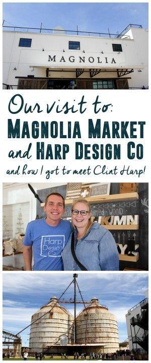 Magnolia Market and Meeting Clint Harp! Fixer Upper Magnolia Market, Harp Design Co. Waco, TC www.BrightGreenDoor.com