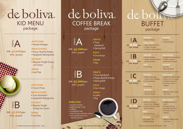 Reservation packages for meeting or party are now available @de_boliva starting from IDR 40.000. More info simply click www.deboliva.com or call our outlet branches