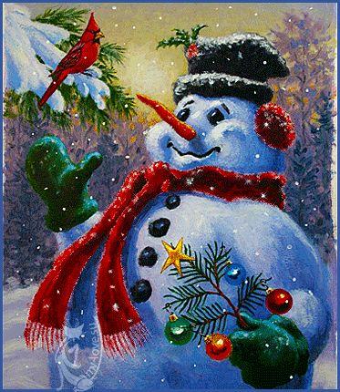 Κινούμενες εικόνες και καρτ-ποστάλ για το θέμα - Χειμώνας, χειμώνα χαιρετισμούς…