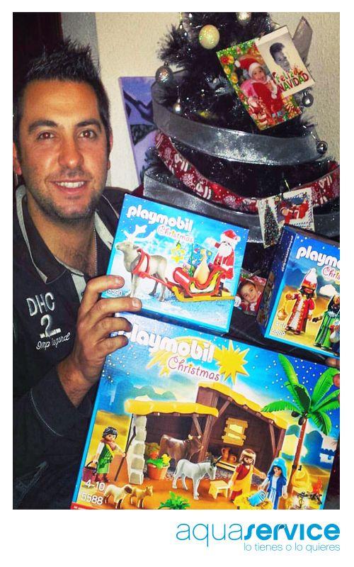 ¡Enhorabuena, Alberto! Así disfrutan los ganadores de nuestro sorteo navideño con sus regalos Aquaservice.