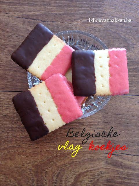 Recept om voor het EK voetbal Belgische vlag vlaggen koekjes te bakken door ikhouvanbakken.be #vlaggenkoekjes #vlagkoeken #nederlands #belgischekoekjes #belgischevlaggenkoekjes