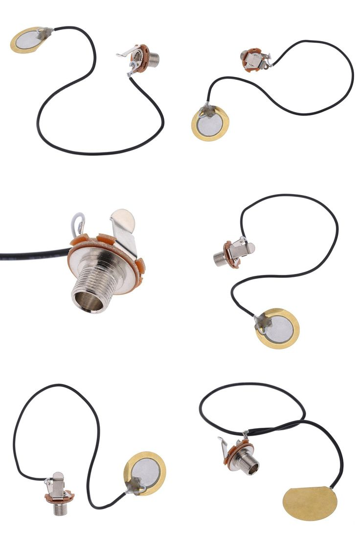 [Visit to Buy] Acoustic Guitar Transducer Pre-Wired Amplifier Piezo Jack Pickup Accessory Fit for Almost String Music Instruments ARE4 #Advertisement