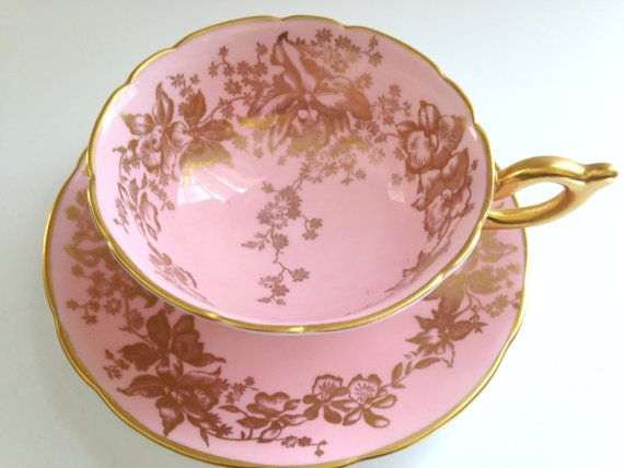 Luscious Pink Tea Cup and Saucer Coalport Tea Cup   $125