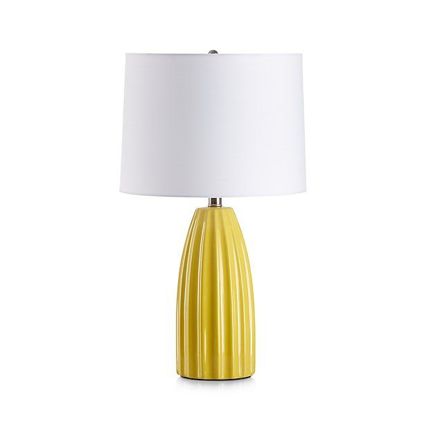 Ella Golden Yellow Table Lamp | Crate and Barrel