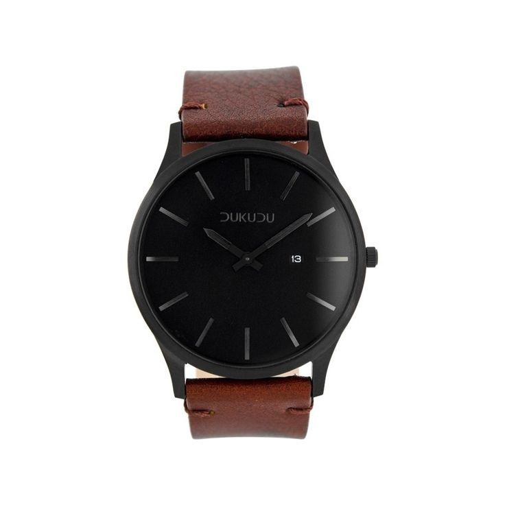 DUKUDU Ingmar Bruin/Zwart horloge DU-006