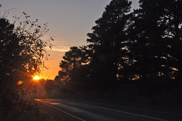 early morning sunrise over Ballan in Regional Victoria, Australia.  (photo by Leone Fabre April 2012)