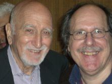 Dominic Chianese and Paul Levinson, at Sopranos Wake Conference at Fordham University, 2008