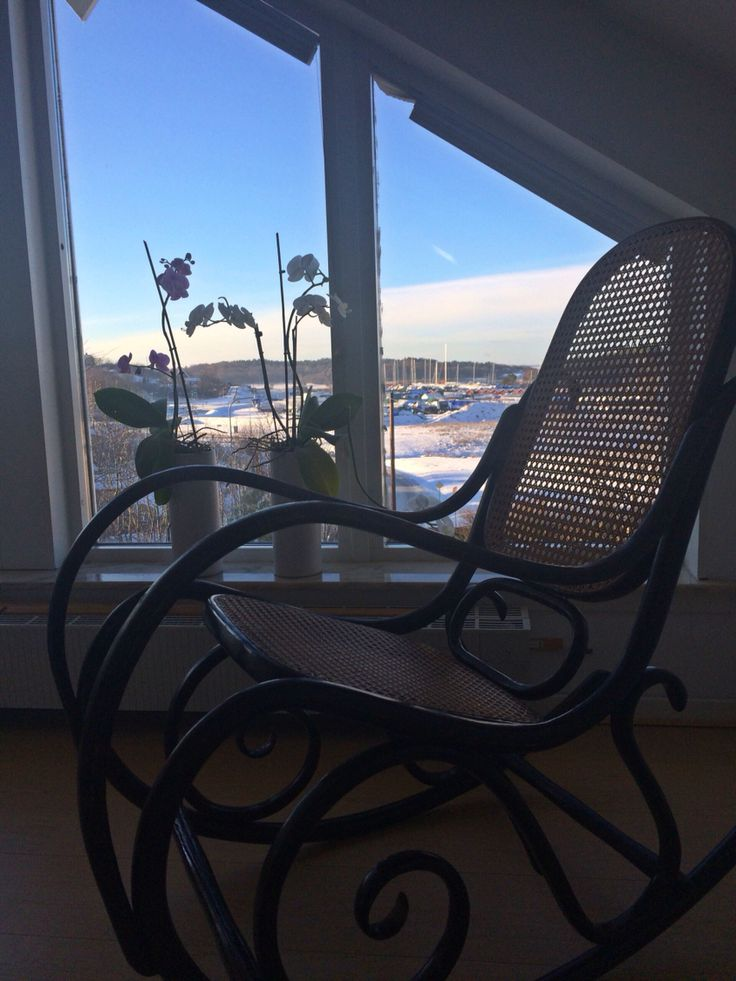 Thonet rocking chair with a view
