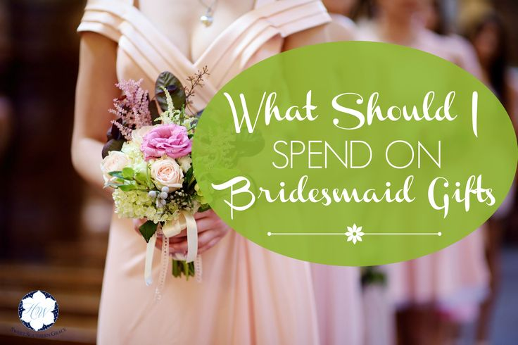 If you're having trouble navigating a wedding budget with bridesmaid gifts in mind, check out this post.