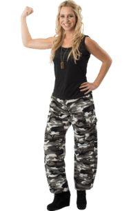 Adult Arctic Camo Army Girl Fancy Dress Costume