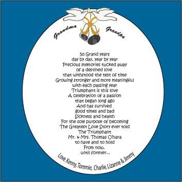 50th Wedding Anniversary Poems | 50th Anniversary poem ...