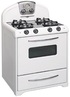 Northstar Range models, Northstar retro stoves, Model 1955P, gas top, electric oven