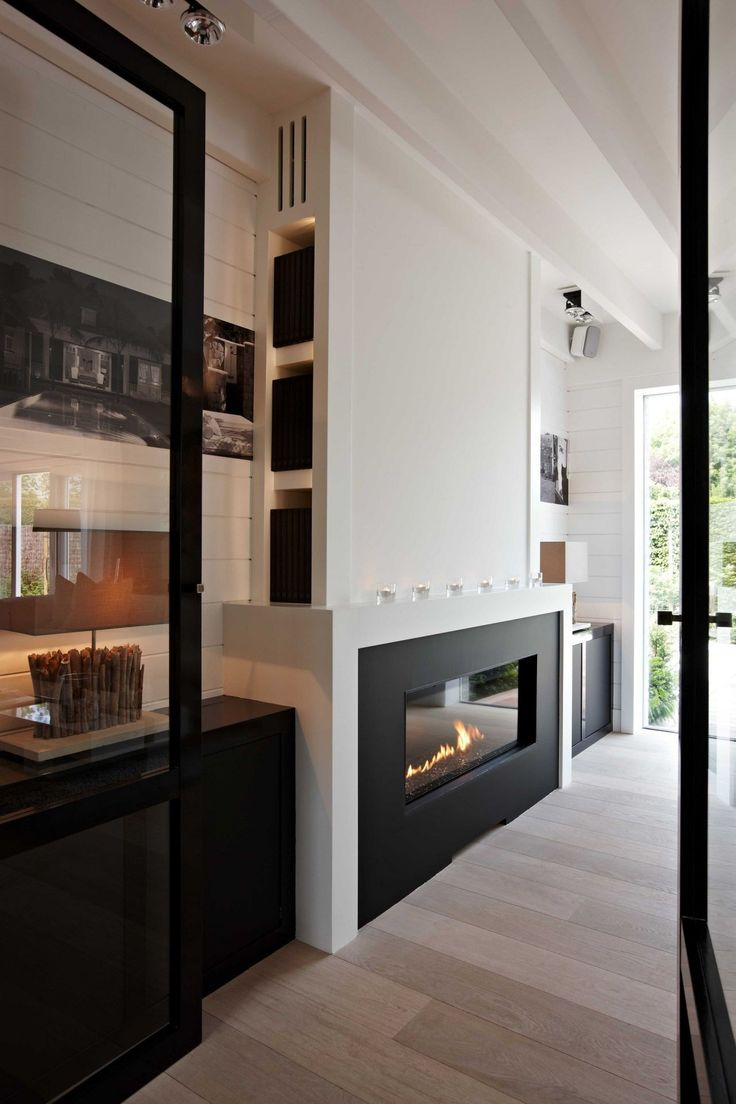 Modern Kitchen Fireplace - Find this pin and more on fireplace