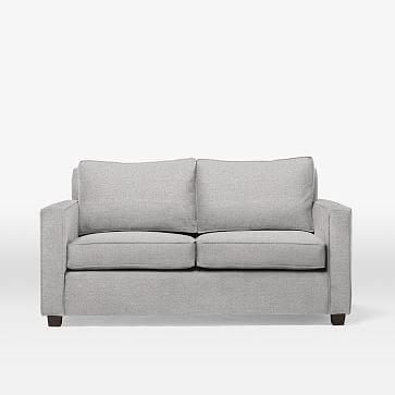 Henry Basic Sleeper Sofa, Twin, Chenille Tweed, Frost Gray