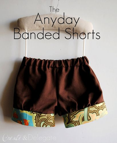 anyday banded shorts pattern sizes 2-5
