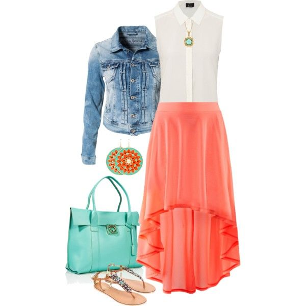 A fashion look from March 2013 featuring Pepe Jeans London jackets, H&M skirts and Accessorize sandals. Browse and shop related looks.