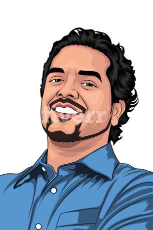 Vector Portrait. check out my gigs ^^ https://www.fiverr.com/rinzuarchi/draw-your-portrait-in-vector-art  #Vector #Portrait #Cartoonize #Caricature