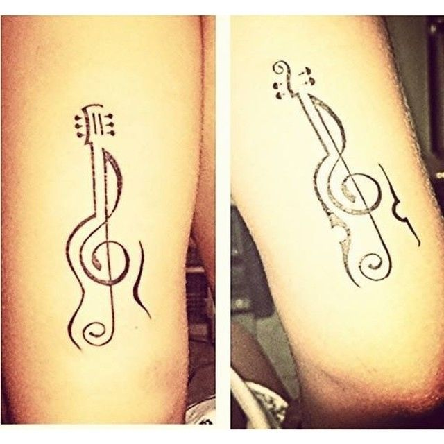small guitar tattoo - Google Search