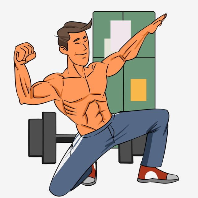 Strong Muscles Bodybuilding Muscles Cartoon Illustration Hand Drawn Fitness Illustration Eight Pack Abs Biceps Handsome Man Png Transparent Clipart Image And How To Draw Hands Cartoon Illustration Strong Muscles