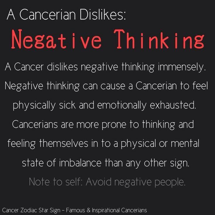 Dislike: Negative thinking