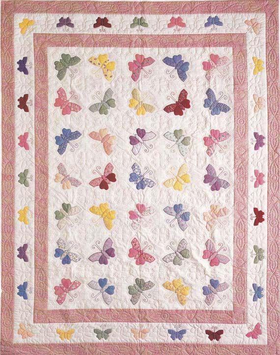 253 best Butterfly Applique Quilts / Patterns images on Pinterest ... : butterfly applique quilt - Adamdwight.com