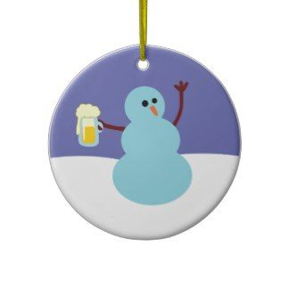 Snowmen Gone Wild Christmas Tree Ornaments