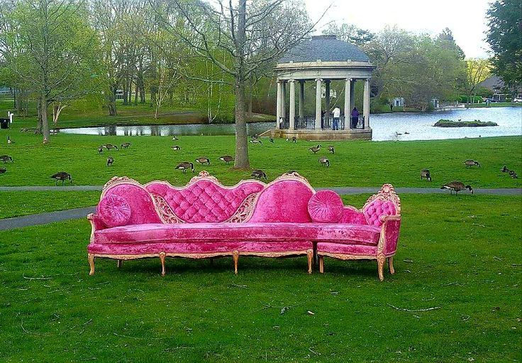 Super Glam Hot Pink Velvet Sectional - Wedding seating for the whole bridal party!