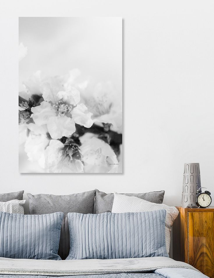 «Black And White Blossoms», Numbered Edition Aluminum Print by ARTbyJWP via Curioos #homedecor #wallart #flowers #blackandwhite #fineartphotography