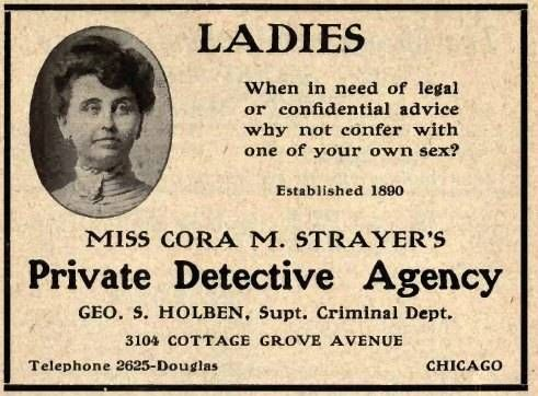 Women detective in the late 1800's.