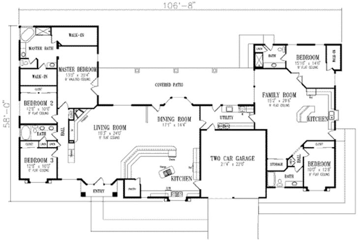 81 best two master suites images on pinterest dream home for Lucky 4 ranch floor plan