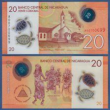 NIKARAGUA / NICARAGUA 20 Cordobas 2014 (2015) Polymer UNC  P.NEW