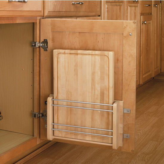A Kitchen Space Saver:  The Door-Mount Cutting Board from Rev-A-Shelf   Small Space Living