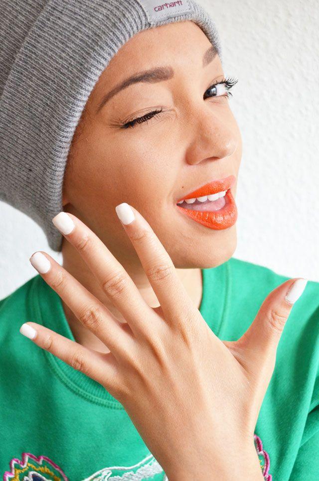 #mercredie #blog #blogger #fashion #mode #genève #suisse #switzerland #bonnet #beanie #carhartt #kenzo #tiger #sweater #sweat #tigre #white #nails #nail #polish #varnish #orange #bright #lips #lipstick #Makeup #maquillage #lèvres