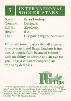 1998 Brooke Bond PG Tips International Soccer Stars #5a Brian Laudrup Back