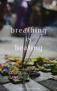 Breathing is healing. Enjoy better sleep, less stress, and deep healing, all through the power of your breath. Learn more and find free self-care resources inside! >> www.christytending.com