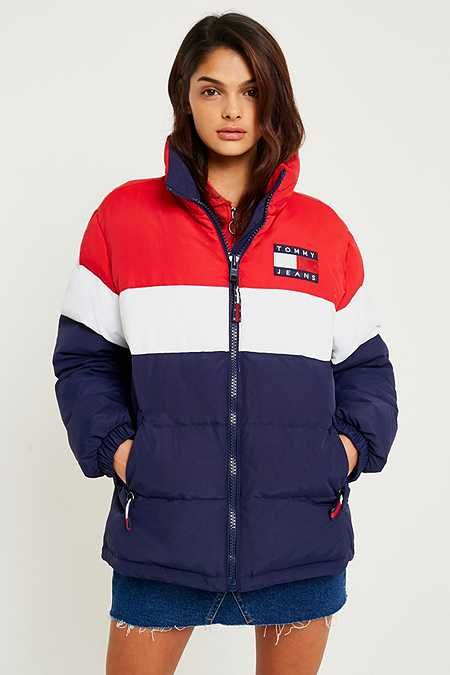 Tommy Jeans  90s Red White and Blue Puffer Jacket  96e45478f5