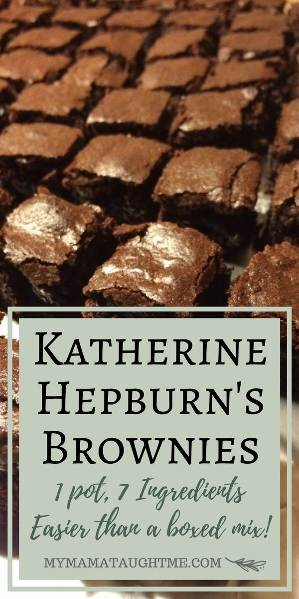 Katherine Hepburn Brownie's - the BEST prize winning brownies easier than a mix…