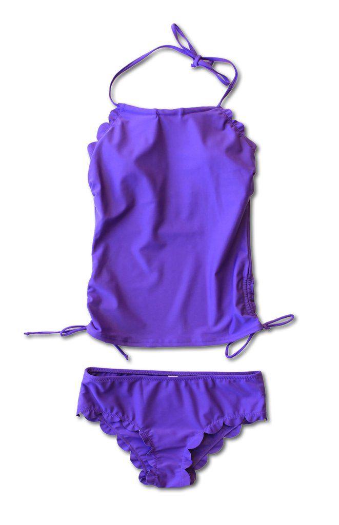 Hallie Tankini - Purple - $52